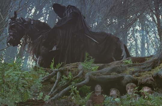 The hobbits first encounter a Nazgûl