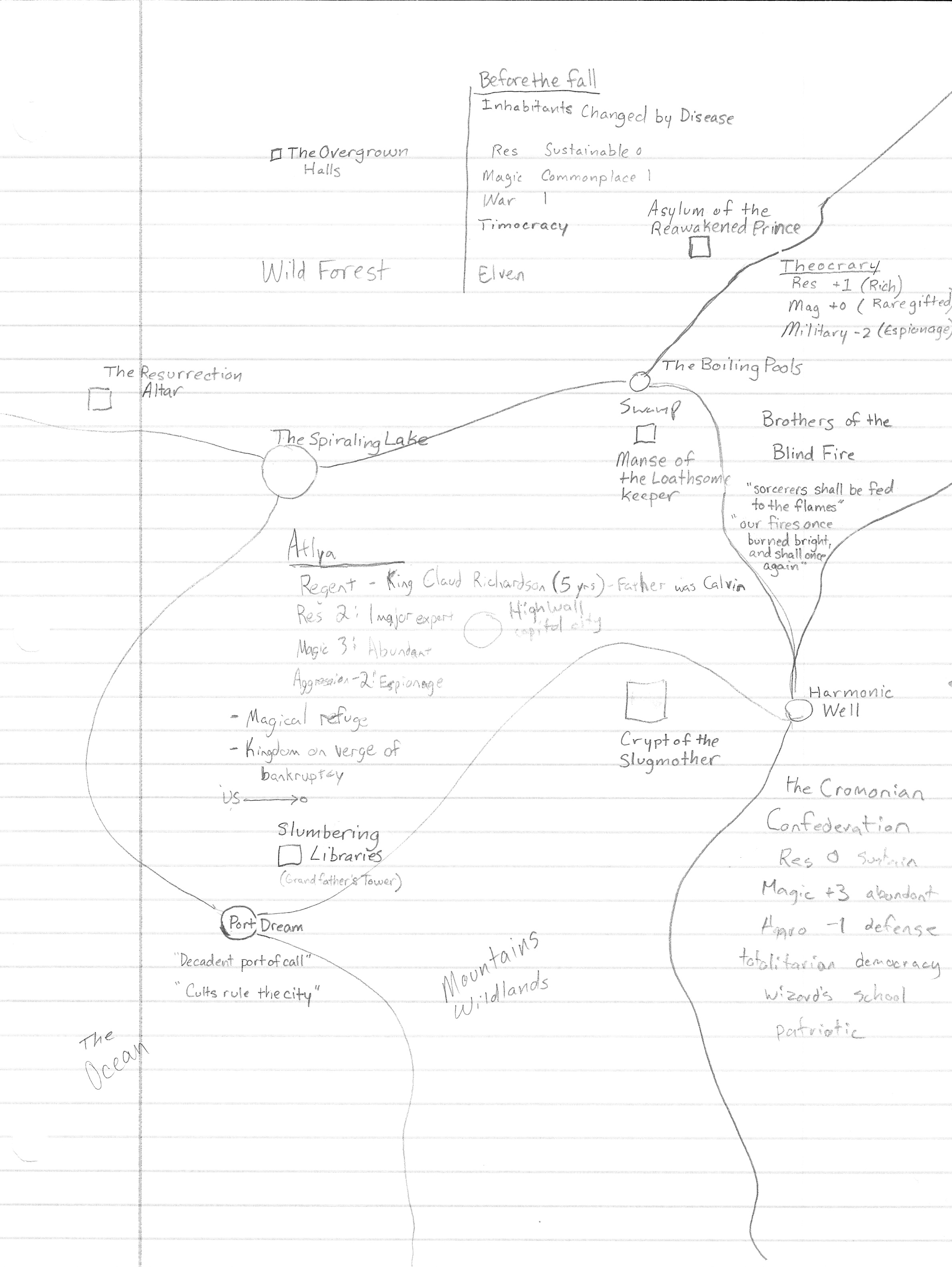 Map for Butcher, Baker and the Candlestick Maker Campaign