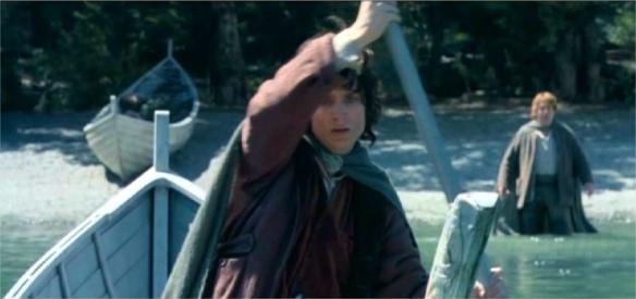 Frodo Breaking the Fellowship