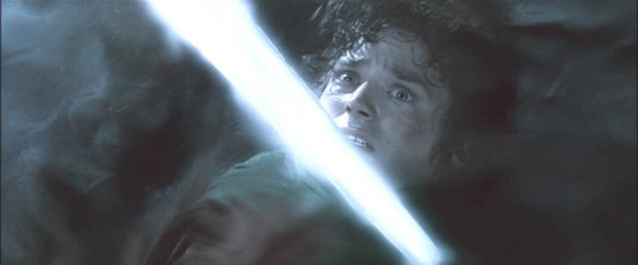 Frodo attacked by the Ringwraiths at Weathertop